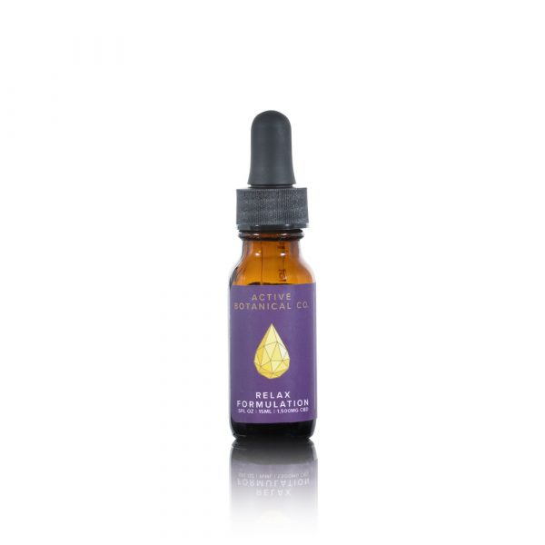 1500mg CBD Relax Tincture Active Botanical Co.